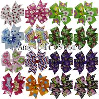 40pcs/lot Free Shipping!   11colors baby cartoon bows WITHOUT clip, pin wheel Hair Bows,Baby  hairbows