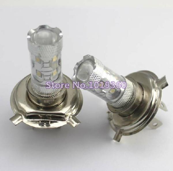 4x H4 50W CREE LED Xenon White Fog Light Driving Headlight Daytime Running DRL Bulbs Auto(China (Mainland))