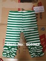 New 2014 Retail wholesale Girls' Leggings double ruffles organic cotton leggings for baby girls