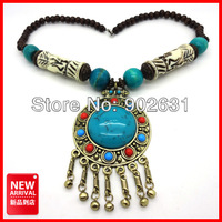 Fashion Style Tibetan Pendants Necklace with Turquoise Pendants Sotck Wholesale Price