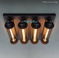 Free Shipping Nostalgic Punk Steam Vintage  Industrial Style  Ceiling Lights sidelong Art Suspension Lamp 4 lights