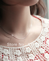 Free Shipping 925 Sterling Silver Necklace Fashion Snake Chain Silver Jewelry Necklace Pendant Top Quality