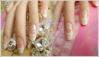 2014 New Nail Sticker 12pcs Acrylic Mix Lace Stylish Decal For Nail Art French Tips Decoration 8620