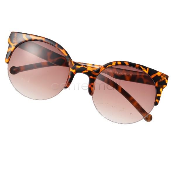 Fashionable Sexy Retro Style Round Circle Cat Eye Sunglasses Retail/Wholesale B2# 5635(China (Mainland))