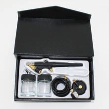 Professional Air Brush Spray Gun Painter Single Action Airbrush Kit w/Bottles AB138(China (Mainland))