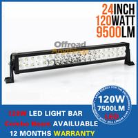 Free Shipping Offroad 120 Watt LED Work Light 22 inch 120W Off Road LED Light Bar SUV Track Mine Work Lamp Spot Flood Combo Beam