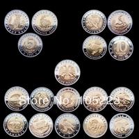 [wholesale price + Free shipping] Soviet Union red book 15 Rare Wildlife animal bimetallic coins 600pcs/lot