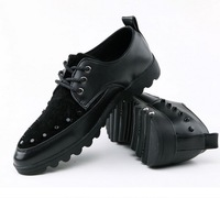 Spring Casual Leather Shoes Fashion Suede Low-top Studded Rivet Shoes Popular Men's Sneakers 2014 S016