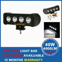 """2 Pcs IP67 4000LM 10-45V DC Spot Flood Beam 40W CREE LED 4x10W Work Light Bar,Free Shipping 9.5"""" led fog lights for truck Bright"""