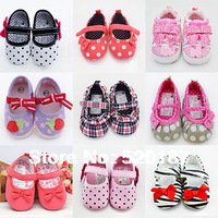 Promotion New 2014 Baby Girls Shoes 22 Styles First Walkers Lovely Girl Sneakers Infantil Kids Girls Shoes -- BS12 Free Shipping