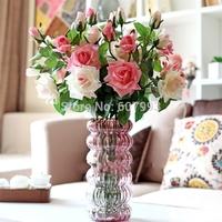 3 Heads 11cm diameter real touch rose artificial flowers, Home decorative rose, flower arrangement,wedding table centerpiece