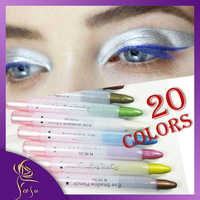 2014 New 20 Colors Glitter Eyeliner,White Eyeliner/ Highlight,/Eye shadow 3 Use Pen, Free Shipping Eye liner Whole Sale Price