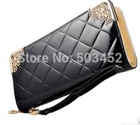300pcs/lot Super Seller Fashion Ladies Long Design Wallet Stylish Solid Color Women Pu Leather Purse Candy Colors