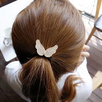 Cute 6069 tousheng butterfly wings headband hair rope hair rubber band hair accessory hair accessory