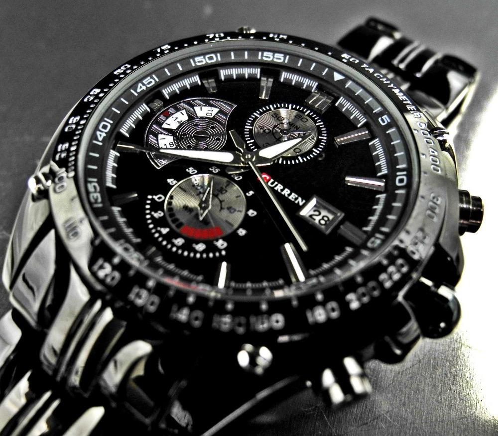 CURREN 8083 Luxury brand sports Watch men Quartz Watches Auto Date Dress wristwatch military watches man full steel watch(China (Mainland))