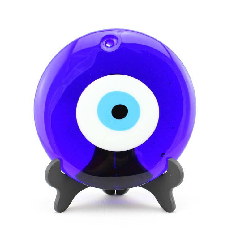 Bleu turque evil eye ronde d20cm pendentif suspendus for Decoration yeux