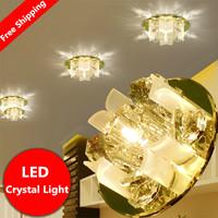 3W modern led ceiling lights for living room crystal Lampshade LED lamp Home Lighting AC85-265V luminaria teto
