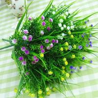 10x Mini mantianxing artificial grass artificial plants plastic flower artificial silk flower