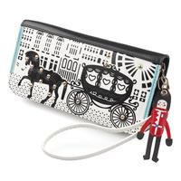 Women Wallets Rivets Kqueenstar Carriage Girls Purses Cute Cartoon Long Man Zipper Coin Purse Card Case Fashion Clutch