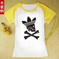 2013 New fashion sweep skull head printed   t shirt novelty plus size t-shirts free shipping  baby boys   Skull Heads  summer