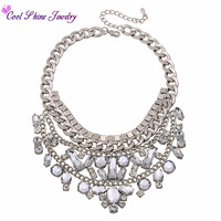 New Arrival Vintage Jewelry Luxury Shourouk Statement Necklace Crystal Choker Chunky Necklace Metal Bib Necklace Free Shipping