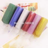 12PCS/LOT,6 color glitter glue,Environmentally non-toxic,Craft material,DIY tools.Safe glue,22 milliliter per bottle.Wholesale.