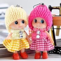 Free Shipping Hot selling 7cm height Mini Cute Plush toy dolls girl birthday gift  xqw250