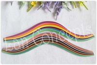 Free shipping DIY Quilling Paper Filigree  - W0.5cm x L39cm MIXED 24 colors 1200pcs/lot LA0136A