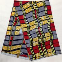 Free shipping Wax Block Printing Fabric Batik Cotton Super Wax Hollandais Wax Fabric WL4987-14