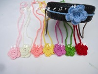 2014 crochet Children's hair band headband  blasting with baby Knitting the infant  flower hair accessories handwoven headdress