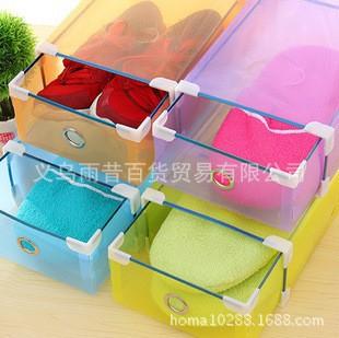 5pcs/lot wholesale plastic PP shoes zakka a organizer set fashion folding drawer rainbow excellent storage box Free Shipping(China (Mainland))