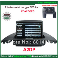 Vehicle DVR/GPS/Bluetooth/PIP/functions for Honda 07 Accord with 7 inch touch screen digital LCD,USB/SD card