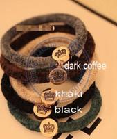 vintage crown Rope Elastic Hair Ties Bands Headband Strap Girl's lady multi color option wholesale retail