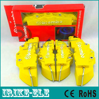 Free Shipping 4pcs Universal Car Auto Brembo Style Disc Brake Caliper Covers Front And Rear RD Yellow color