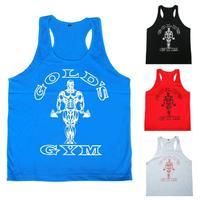 E0491 Hot Sale Men's Muscle Tank Tops for Fitness & Bodybuilding 100% Cotton Men workouts sports vest Training Suit