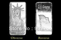 2.5 Gram American Liberty Silver Bar