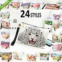 24 Design Lady Bag Message Envelope Bag Cheetah Print Handbag Shoulder Bag Clutch Small  Bag Girls Favorite