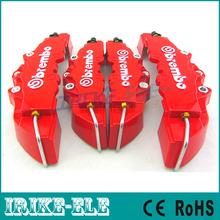 Cor vermelha Brembo Brake Caliper 4 pçs/lote frente Car + Rear Disc Cover 3D com Kit Universal grátis frete(China (Mainland))