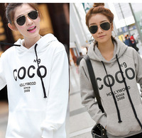 M-4XL HOT Selling 2014 new fashion Women's COCO Printed Hoodies Leasure tracksuit Sweatshirt Tracksuit Tops Outerwear With Hat