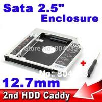 "Universal 2nd Caddy 12.7mm SATA 3.0 Case SSD HDD HD 2.5"" Hard Disk Driver External Enclosure CD DVD Optical Bay Laptop Notebook"