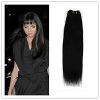 "Remy Virgin Human Hair Extensions Brazilian Hair Jet Black 12""-26"" Weaves Straight  Free Shipping"