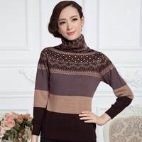 Drop Shipping New autumn and winter Women's Sweater Cashmere Sweater heap turtleneck long-sleeve sweater female 3 colors