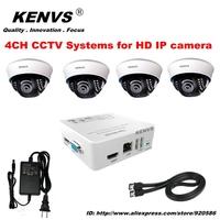 DOME 4*960P HD IP CAMERA  CCTV System 4CH FUII 1080P NVR CCTV IP CAMERA KIT  Dome camera surveillance Security NVR HDMI