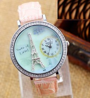 mini handmade polymer clay Quartz  Eiffel Tower watch  Rhinestone jewelry lady watch