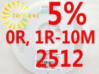 4000PCS 2512 Resistor 0R , 1R - 10M 5% 1W SMD Resistor 2512 Chip Resistors