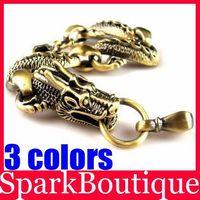 (50% off on wholesale) Antique Dragon Bracelet Link Chain Bracelet Men Bracelet Free Shipping