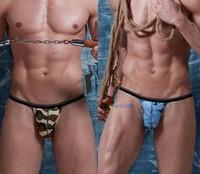 New XUBA  Fashion Men's Sexy Cozy Underwear T-back Camouflage Thongs Shorts