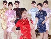 Free shipping fashion cheongsam 2014 new sale new design traditional chinese dress vintage cheongsam dress mandarin JY010 7color