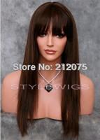"14""-26""inches Fashion Women Long straight  Brown & Light Auburn  Mix Wig *Fashion Women*"