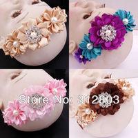 2014 item, Baby Girl Hair Band Infant Toddler Flower Headband Headwear, kids Hair Accessory